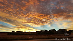 October 15, 2015 - A brilliant sunrise in Thornton. (Lisa Canfield)