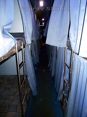 One of best interior of sleeper till I have seen. (gouravshinde94) Tags: bus buses volvo bangalore sleeper kolhapur shivneri b7r msrtc