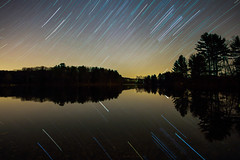 Wiscoy Lake Startrail (AWelsh) Tags: house lake ny reflection home church water night stars landscape pond long exposure nightscape prayer christian retreat orion pike acres christians fellowship milkyway covenant andrewwelsh ekklesia canon5dmkiii