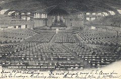 Interior of the Auditroium - Ocean Grove, New Jersey (The Cardboard America Archives) Tags: vintage newjersey postcard auditorium oceangrove udb