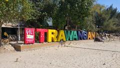 Arrivée sur l'île de Trawangan ( Juste à côté une sorte de gestion des déchets)