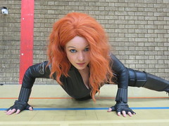black widow (the_gonz) Tags: sexy girl comics cool geek cosplay redhead convention blackwidow marvel comiccon avengers sexygirl ultron sexycosplay halicon marvelcomicscosplay blackwidowcosplay halifaxcomiccon