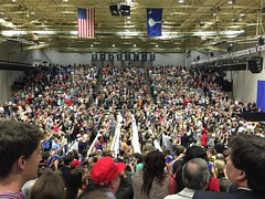 I've got my phone out! (AppStateJay) Tags: 6 college sc make america j town hall us south united great meeting donald presidential again carolina plus candidate states republican trump six iphone 2015 wofford