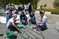 DSC_0125 (Al Ahliyya Amman University) Tags: street flowers students colors painting colorful university pretty time weekend president amman happiness jo jordan characters aau joyful       ccbysa  ahliyya          balqa      alsaro