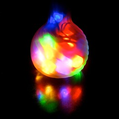 in a vase, brightly (muffett68 ) Tags: clic minilights pinkvase christmaslightsincontainers