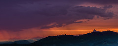 rain clouds mt warning (rod marshall) Tags: sunset warning mt stormy storms australianimages stormssunset