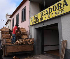 Firewood delivery to Pani Icadora (D70) Tags: wood man portugal truck island delivery madeira firewood pani fuel funchal funchalmadeiraisland icadora