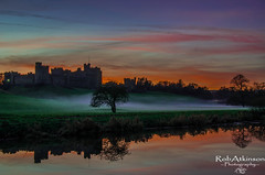 fire in the sky (R0BERT ATKINSON) Tags: alnwickcastle northeastengland northumberland river castle trees sunset riveraln robatkinsonphotography nikond5100