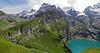 Oeschinensee (Vid Pogacnik) Tags: switzerland oeschsinensee bernalps lake hiking outdoor landscape mountain glacier kandersteg mountainside mountainpeak cliff