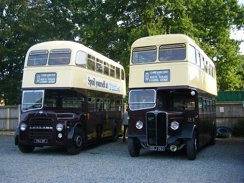 Lowestoft Corporation Motor buses Nos. 12 & 21 at EATM