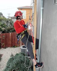 010 David On Rappel (saschmitz_earthlink_net) Tags: 2016 california southerncaliforniagrotto christmasparty losangelescounty baldwinhills windsorhills party climbing practice