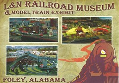 L&N Railroad Museum & Model Train Exhibit Foley Postcards 2 (King Kong 911) Tags: postcards foley roses trains museum park bell tower heritage