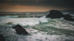 Wave After Wave (Augmented Reality Images (Getty Contributor)) Tags: blend canon clouds coastline cullen landscape leefilters longexposure morayshire rocks scotland seascape sunrise water waves