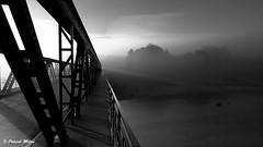 The light (patrick_milan) Tags: plouguin ploudalmezeau portsall kersaint landunvez landeda lannilis treglonou saintpabu pabu abers finistère brittany bretagne bzh saintrenan renan lanildut aberwrach lampaul plouarzel breles noiretblanc blackandwhite noir blanc monochrome nb bw black white structure bridge building pont metal