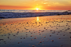 Sunset ((Jessica)) Tags: lowangle beach water sky sunset reflection sand california malibu elmatadorstatebeach