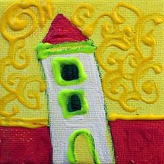 VOORJAAR || SPRING || FRÜHLING || PRIMAVERA || PRINTEMPS || LENTE (Anne-Miek Bibbe) Tags: wip art artinprogress seizoenen acryl painting schilderijtje mini voorjaar || spring frühling primavera printemps lente kunst schilderijen paintings verf paint doek canvas canoneosm annemiekbibbe bibbe nederland 2016