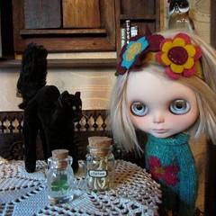 Lucky Charms (SJB Dolls) Tags: fridaythe13th blackcat clover blythe doll steiff wishbone lucky