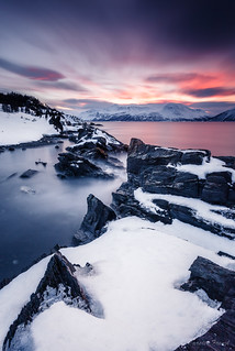 Winter Landscapes at the Ullsfjord in Norway