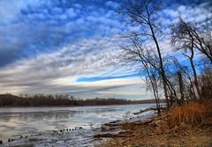 Hudson River Landscape (hbickel) Tags: hudsonriver landscape sky trees clouds highdynamicrange hdr canont6i canon