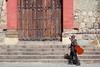 The Blind Busker (Geraint Rowland Photography) Tags: musician blind blindman busker beggar poverty disability blindmusician guitar blindguitarist streetphotography portrait church oaxaca mexico oaxacacity geraintrowlandphotography 50mm canon candid