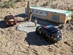 Sheriff's blotter  2/1/2017 (THE RANGE PRODUCTIONS) Tags: greenlight model matchbox jeepcherokee johnnylightning dioramas diecast diecastdioramas imex hoscalefigures 164scale fordpoliceinterceptorutility