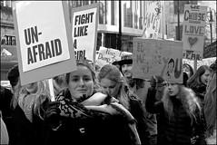 Women's March - DSCF9844a (normko) Tags: london west end grosvenor square usa embassy womens march antitrump dump trump president woman unafraid democracy