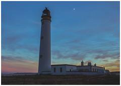Barns Ness Lighthouse at Sunset (Gordon_Farquhar) Tags: dunbar west barns beach lothian ness lighthouse torness power station scotland scottish east coast