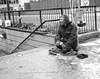 Hard Times VI (bensonfive) Tags: hardtimes roughsleeper subway streetphotography blackwhitephotography monochrome people streetlife london ricohgr