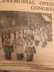 Cardinals O'Connell & Dougherty outside the Pro-Cathedral (1932 Eucharistic Congress). From the Irish Independent Souvenir Record.