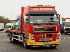 Volvo FM Hill Brothers GN07BEO Frank Hilton IMG_4885 (Frank Hilton.) Tags: classic truck lorry eight wheel maudsley aec atkinson albion leyalnd bristol austin outside heavy haulage crane 8 axle