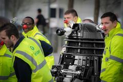 Red Nosed Dalek (JDWCurtis) Tags: cardiff cardiffbay bay wales southwales bbc bbcwales doctor doctorwho dalek rednose bin binmen nose comic comedy
