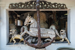 Wooden Animals and Anchor, Ambalangoda, Sri Lanka (Peter Cook UK) Tags: sri lanka southern wooden shop anchor antiques ambalangoda animal