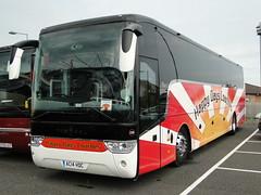 Happy Days Coaches Van Hool TX15 Alicron Coach AC14 HDC (5asideHero) Tags: happy days wanderers van fc coaches hdc wolverhampton hool ac14 tx15 alicron