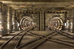 Tunnel of Love,  Edmonton (urbanexpl0rer) Tags: longexposure urban canada underground edmonton crossing metro railway tunnel