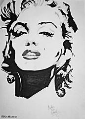 Marilyn Monroe (Fábio & Carol - Itaí - SP - Brasil) Tags: people art handicraft star américa artist arte gente drawing marilynmonroe mulher estrela artesanato picture personality modelo american singer desenho imagem cantora atriz actrees personalidade artísta itaísp sonydsch55