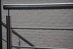 Rain drops on the balustrade (Vaughanoblapski!) Tags: rain drops steel stainless ballustrade