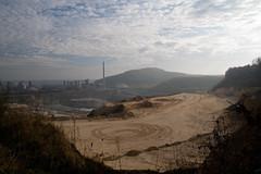 ENCI . . (willem_huwae) Tags: berg canon maastricht mijn tanks fabriek pijp zand sporen enci gebied wolkendek willemhuwae