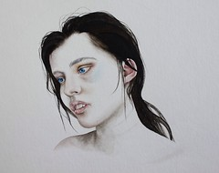 We all feed with tragedy. (Rebekka Berthold) Tags: portrait art painting artist blueeyes tragedy watercolour