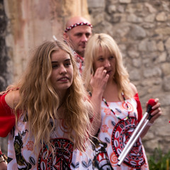 Hip to be Square (Reinardina) Tags: england people man three women candid blondes livemusic bald streetphotography trio southampton mallet drummers musicfestival drumsticks sambaband musicphotography batala holyroodchurch freeevent musicinthecity hairandhairless