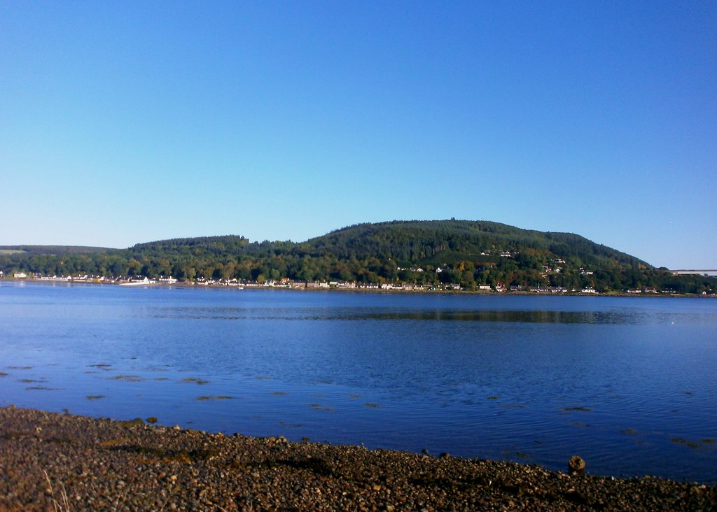 October sunshine on Loch Beauly at Inverness Scotland