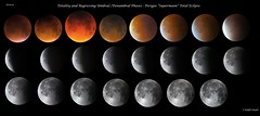 """Totality & Recession Umbral and Penumbral Phases of Perigee """" Supermoon"""" Eclipse (Ralph Smyth) Tags: eclipse ozone totality perigee penumbral"""