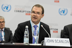 CITES Secretary-General John E. Scanlon addressing a special event  on illegal wildlife and forestry trade and corruption at UN Convention Against Corruption (CITES Secretariat) Tags: cites
