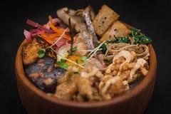 Izakaya Bibimbap Dinner (gabriel amadeus) Tags: party food home cooking dinner asian japanese tofu bowl foodporn meal daikon izakaya friedchicken bibimbap enoki shiitakes karaage negimiso yuzokosho ricetots