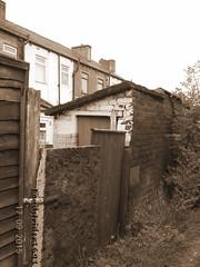 1890s Toilet (Landstrider1691) Tags: terrace toilet stoneroof privy terracedhouses outsidetoilet backtobacktoilets