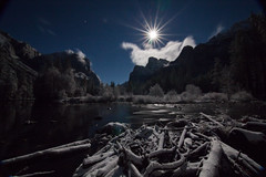 """Narnia"" (East Wind) Tags: winter moon snow nationalpark fullmoon moonrise yosemite moonstar gatesofthevalley"