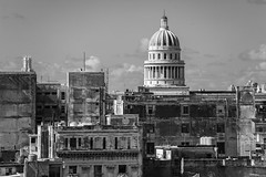 A view of the Capitolio Nacional from the roof of the Plaza Vieja (laskaproject) Tags: life street plaza old city november roof sea people urban texture architecture buildings square havana cuba vieja communist caribbean capitolio habana