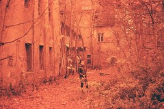 60050013 (lundy_connor) Tags: trees plants berlin nature hospital model sinister creepy e analogue grainy kowa overrun redscale abandonedberlin