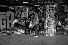 All the young dudes (bladeshunner1) Tags: street urban blackandwhite art graffiti blackwhite noir hipster skateboard dudes