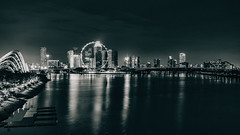 _DSC0665 (drumbunkerdragon) Tags: white black monochrome zeiss marina 35mm bay flyer singapore long exposure f14 sony ii cbd sands za distagon a7r