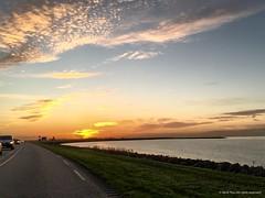 Sunset in Flevoland (Frans en Gerdi) Tags: sunset clouds sheep flevoland ijsselmeer oostvaardersplassen oostvaardersdijk